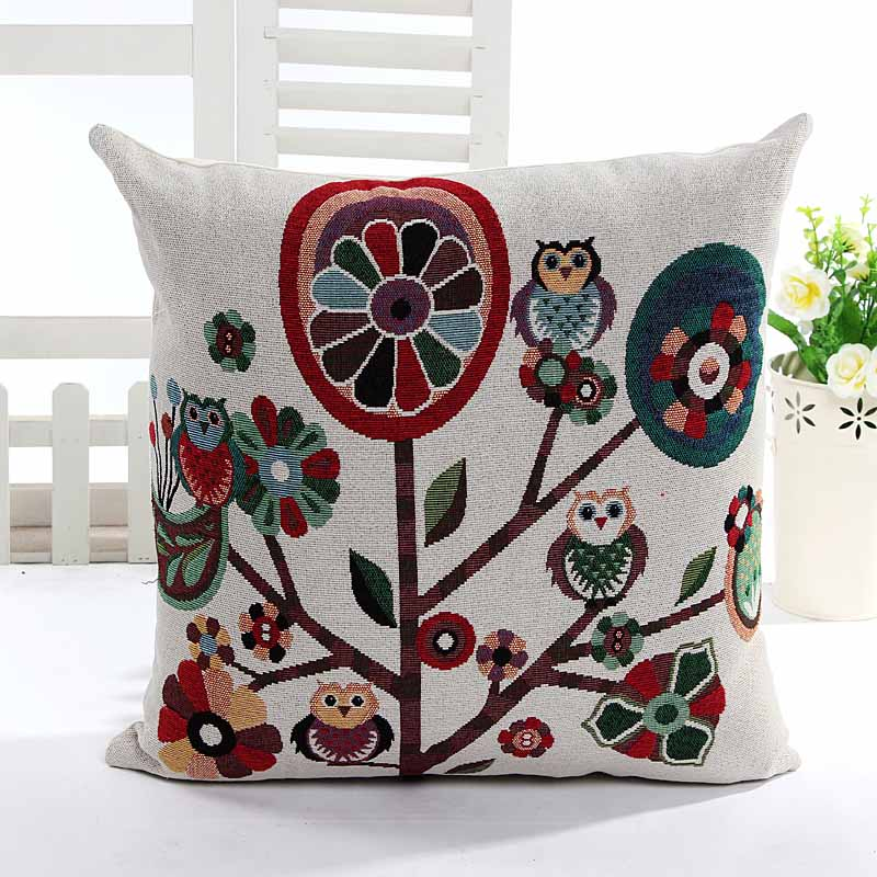 Yarn Dyed Jacquard Floral home decorative cushion pillow cover sofa chair seat cushion cover