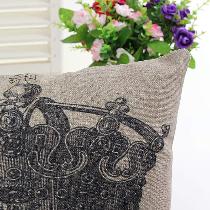 Crown Skull Skeleton printed home decorative cushion pillow cover sofa chair seat cushion cover