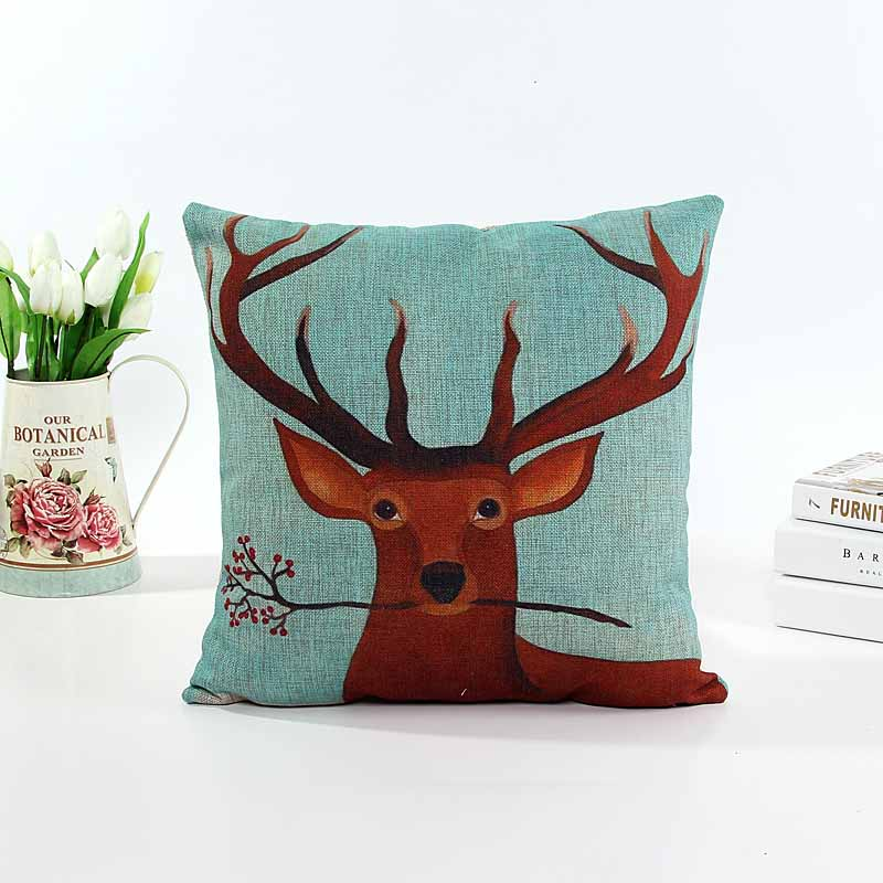 Linen mi-lu dear cushion pillow cover sofa chair seat cushion cover Christmas gift home decorative