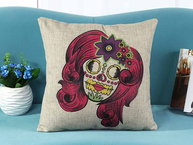 home decorative cushion pillow cover lovely joker printed sofa chair seat cushion cover