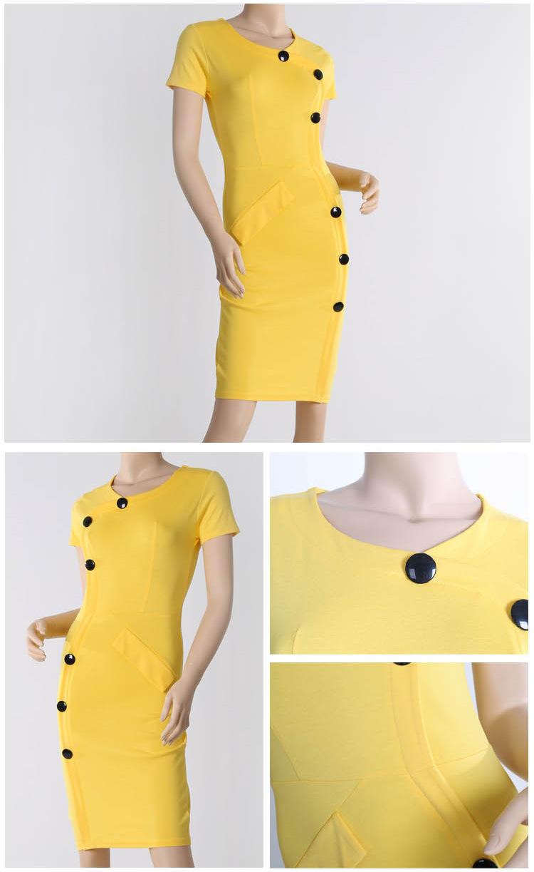 7 Color Fashion Star style V neck elegance bandage dress bodycon slim pencil dress