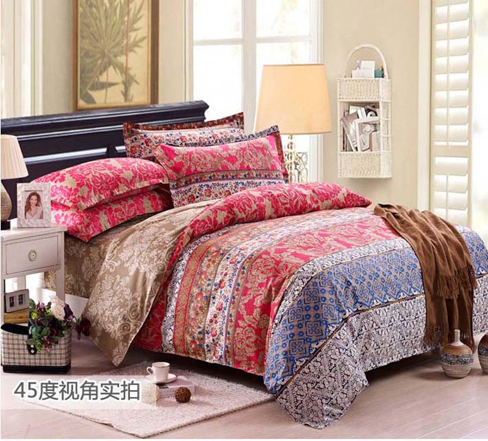 home textile 4 pcs bedding set bed cover duvet cover set Bohemia cotton beddings