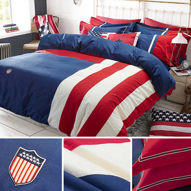 wholesale bedding sets Star fashion British style Brief cotton bed sheet duvet cover pillowcase home textile
