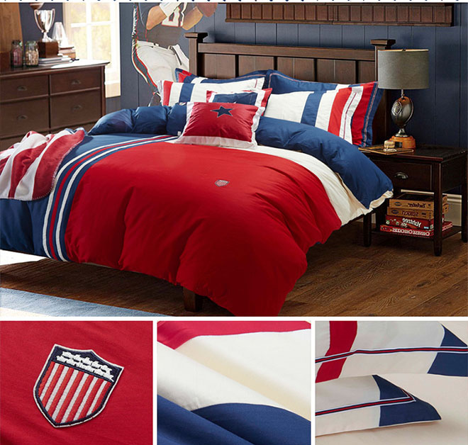 wholesale bedding sets British style Brief cotton home textile bed sheet duvet cover pillowcase beddings