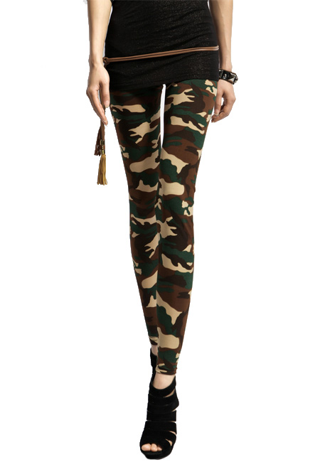 wholesale New 2015 Fashion Vogue women's leggings Camouflage Sexy Rock women slim Skinny leggings Valentine's day Gift free ship