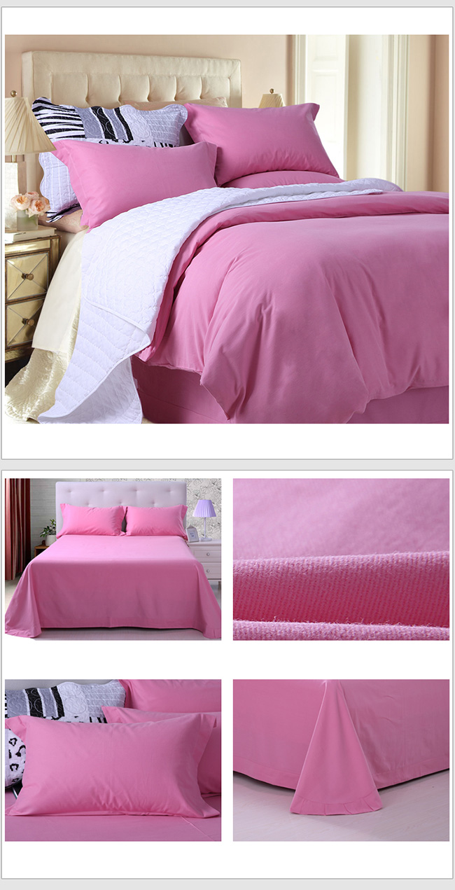 Wholesale 4pcs Sanding Bed Sheet Duvet Cover Beddings Home Textile Bedding Sets