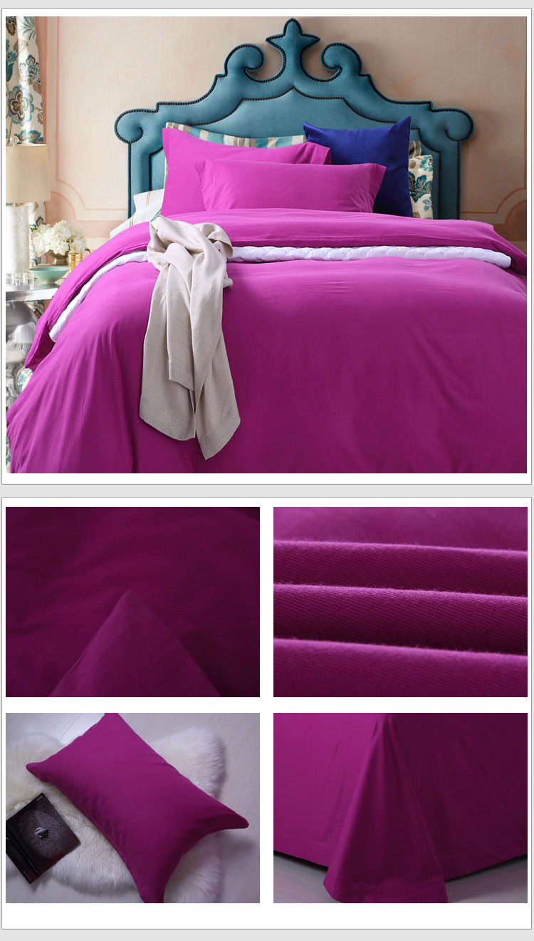 Wholesale 2015 New Fashion 100% Cotton Bedding Sets Sanding Bed Sheet Duvet Cover Home Textile Free Express Delivery