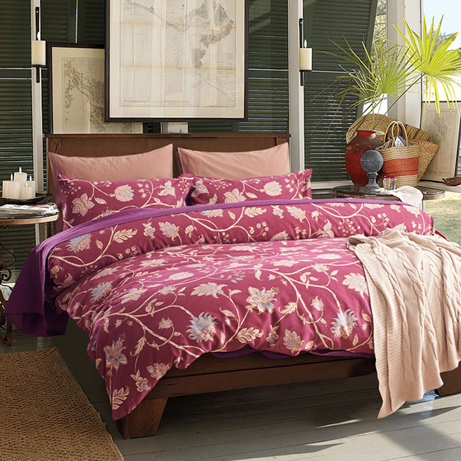 Wholesale 2015 New Cotton Flowers Printed Europe Bed Sheet Duvet Cover Bedding Sets Home Textile