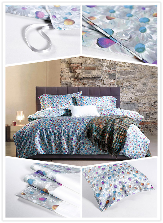 Wholesale High-grade 2015 New Dot Printed Bedding Sets Bed Sheet Duvet Cover Beddings Home Textile