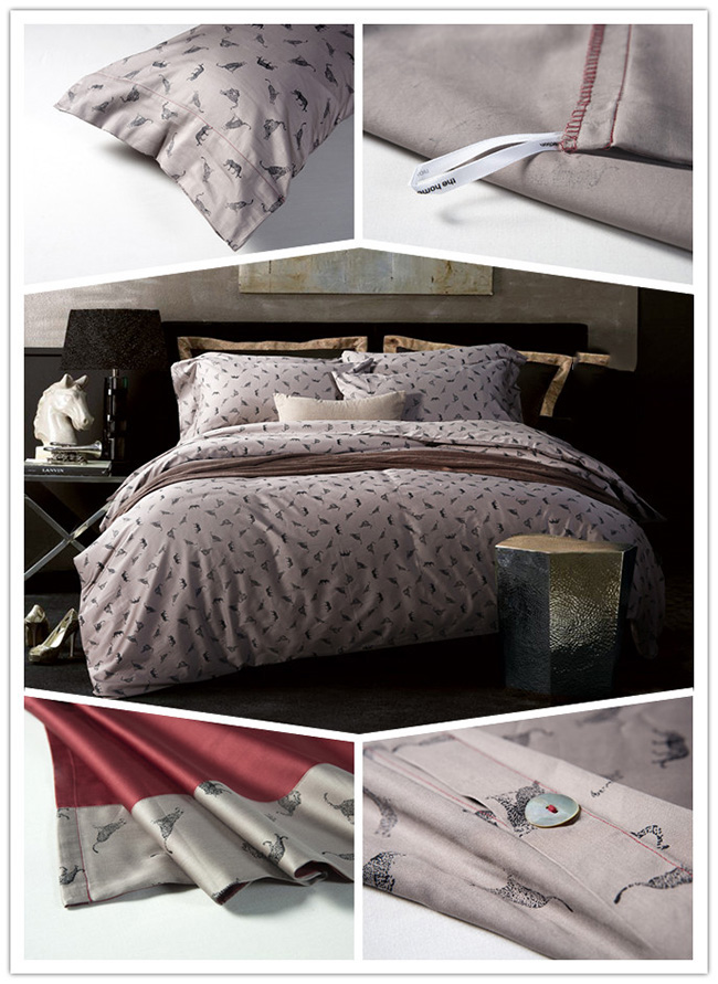 Wholesale Bedding Sets Classics Pinted Animal Flowers Bed Sheet Duvet Cover Home Textile