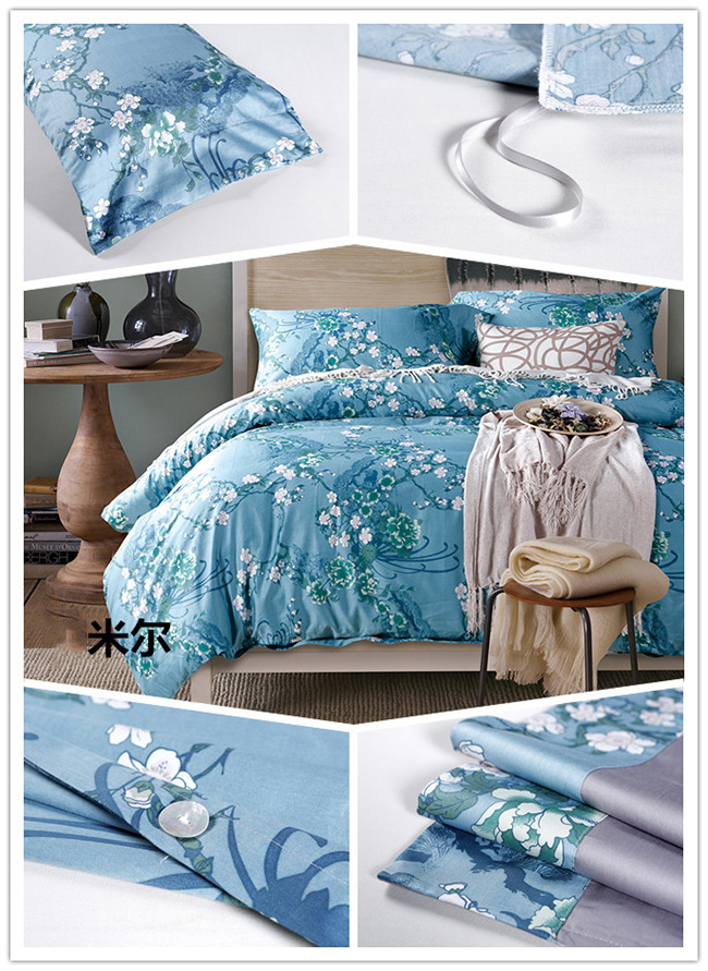 Wholesale Bedding Sets New Classics Pinted Flowers Bed Sheet Duvet Cover Home Textile