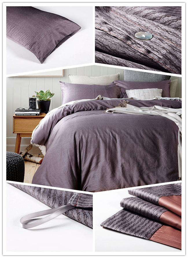 Wholesale 2015 Cotton Stripe Beddings Sets Bed Sheet Duvet Cover Home Textile