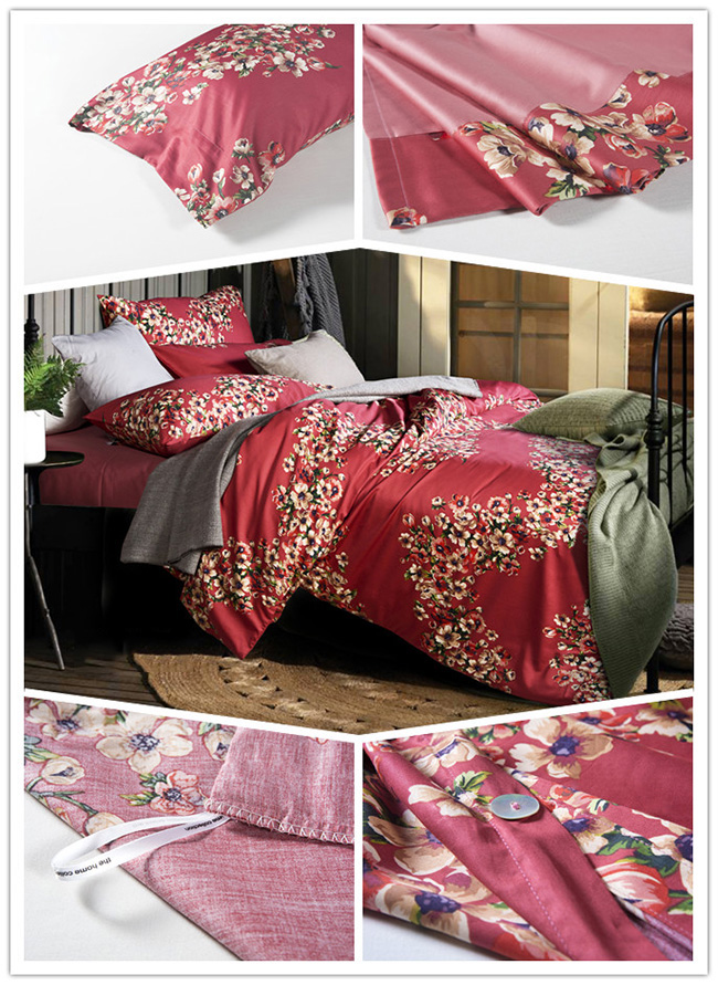 Wholesale Beddings Sets Red Bed Sheet Duvet Cover Home Textile2015 New Fashion Beddings Sets Lea