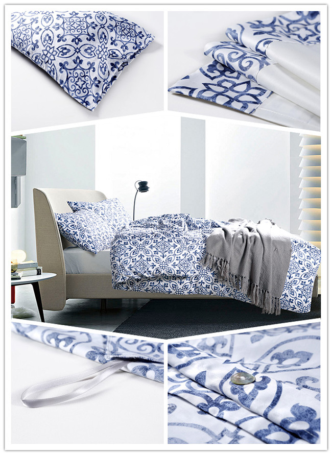 Wholesale 2015 New Porcelain Printed Beddings Sets Bed Sheet Duvet Cover Home Textile