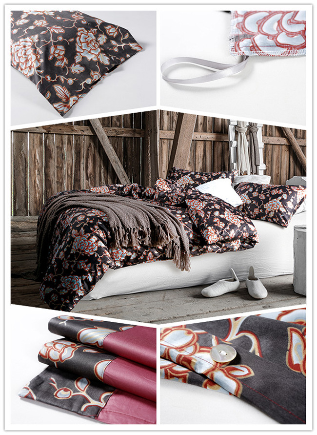 Wholesale Beddings Sets 2015 New Flowers Printed Bed Sheet Duvet Cover Home Textile