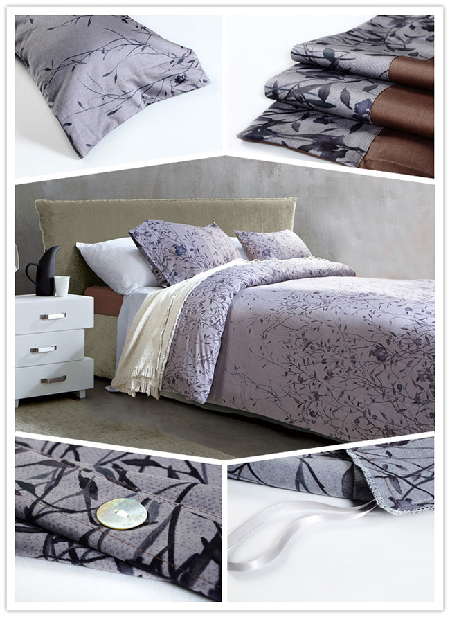 Wholesale Beddings Sets 2015 New Leaf Printed Bed Sheet Duvet Cover Home Textile