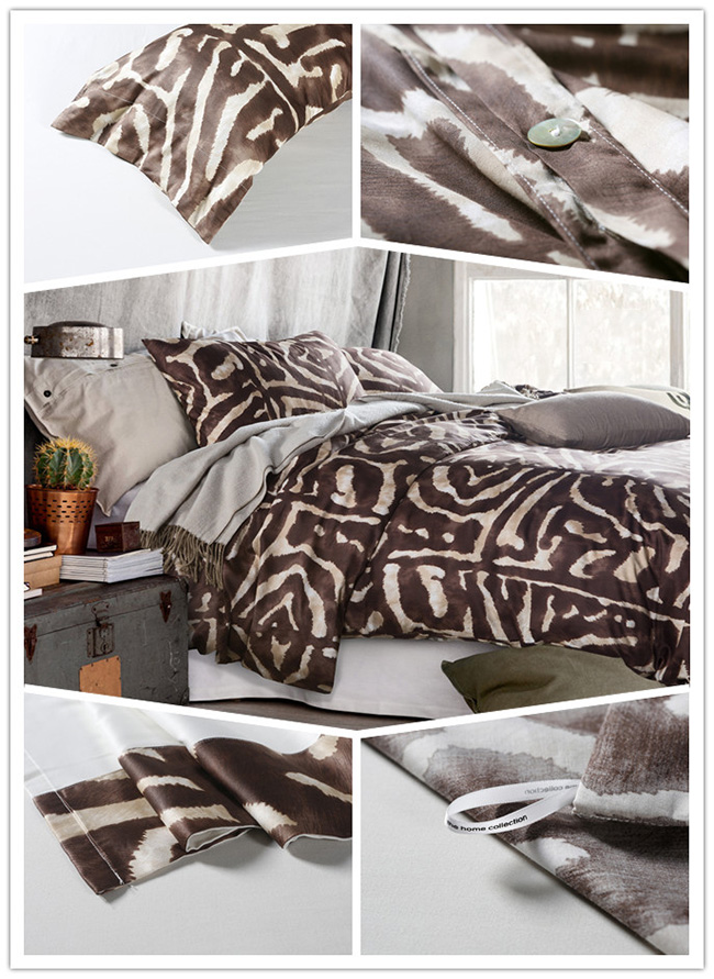 Wholesale 2015 New Leopard Printed Beddings Sets Bed Sheet Duvet Cover Home Textile
