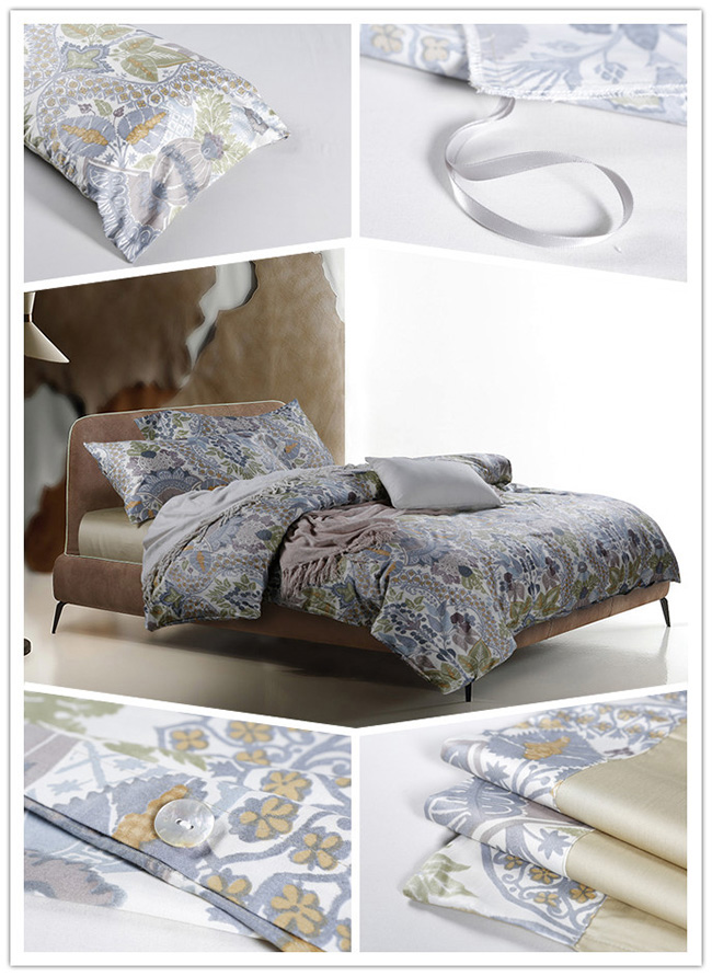 Wholesale New Cotton Flowers Printed Beddings Sets Bed Sheet Duvet Cover Home Textile