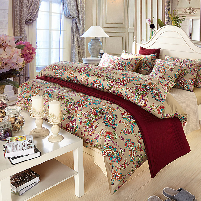 Free Express Ship Printed Flowers Bedding Sets Bed Sheet Duvet Cover Beddings Home Textile BE142
