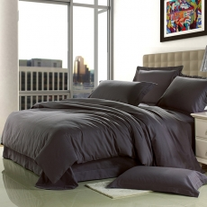 Wholesale New Dark Grey Sanding Cotton Bedding Sets Bed Sheet Duvet Cover Home Textile