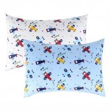 IBraFashion Kids Pillowcases Standard Size for Boys 100% Cotton Soft Cute Blue Airplane Printings