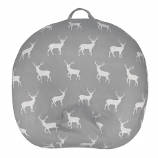 Removable Newborn Lounger Cover for Boys and Girls 100% Soft Cotton Grey Stag Dear Pattern